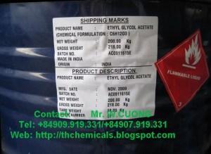 Ethylene glycol mono ethyl acetate, CAC