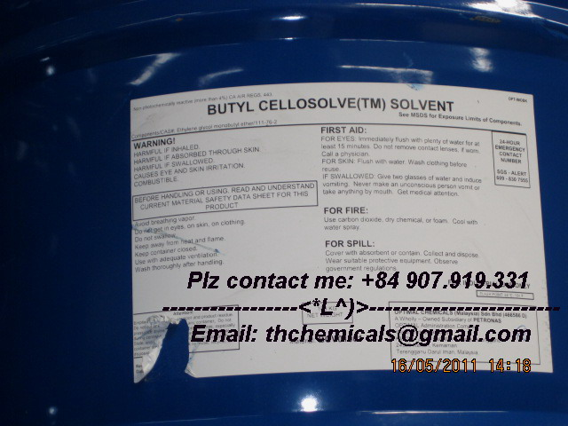Butyl cellosolve - phuy 188kg - malaysia