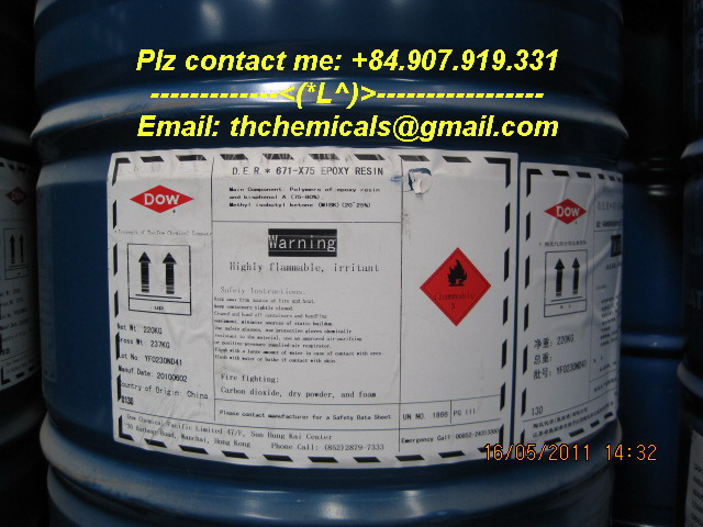 DER 671-X75 - epoxy resin - dow chemicals
