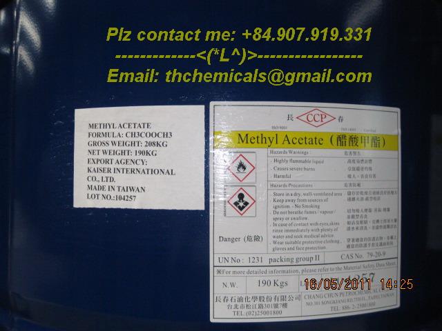 methyl acetate - MAC - dài loan - dung môi pha son