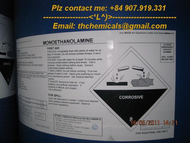 mono ethanol amine - MEA - malaysia - hoa chat phan bon